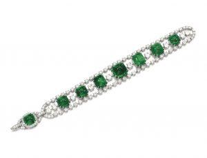 Lot 151 - Emerald and Diamond Bracelet