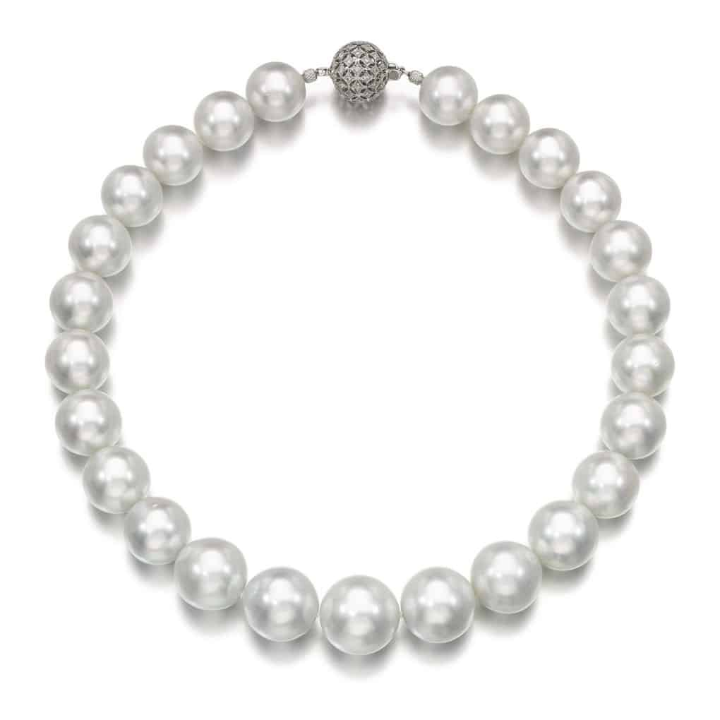 Lot 133 - Cultured Pearl and Diamond Necklace