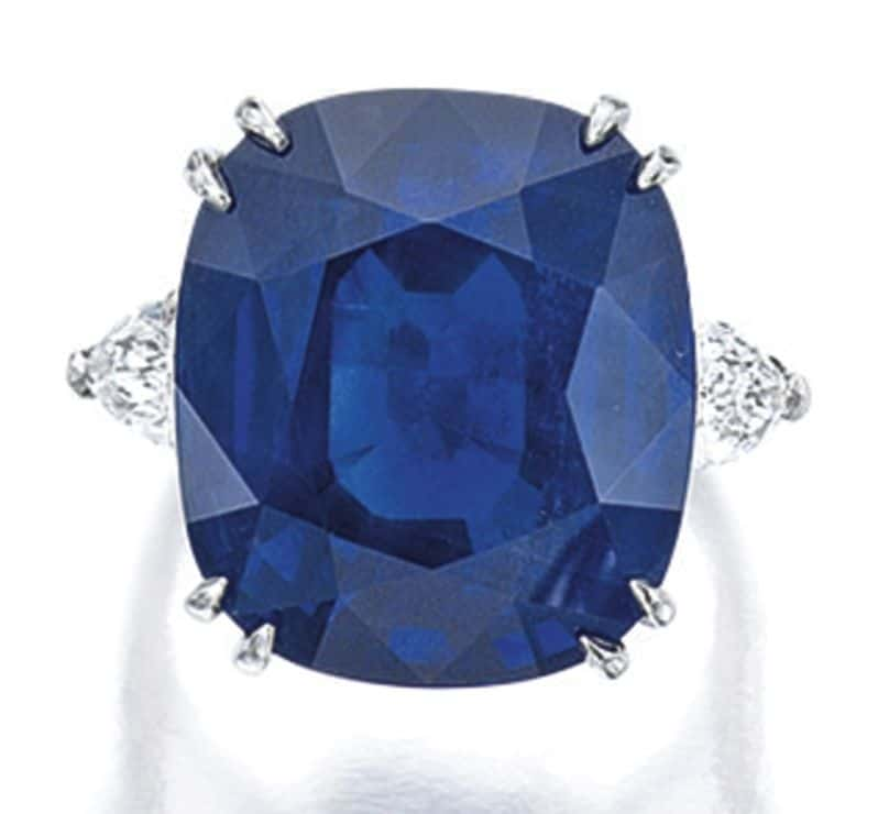 Lot 1656 -Sapphire and Diamond Ring