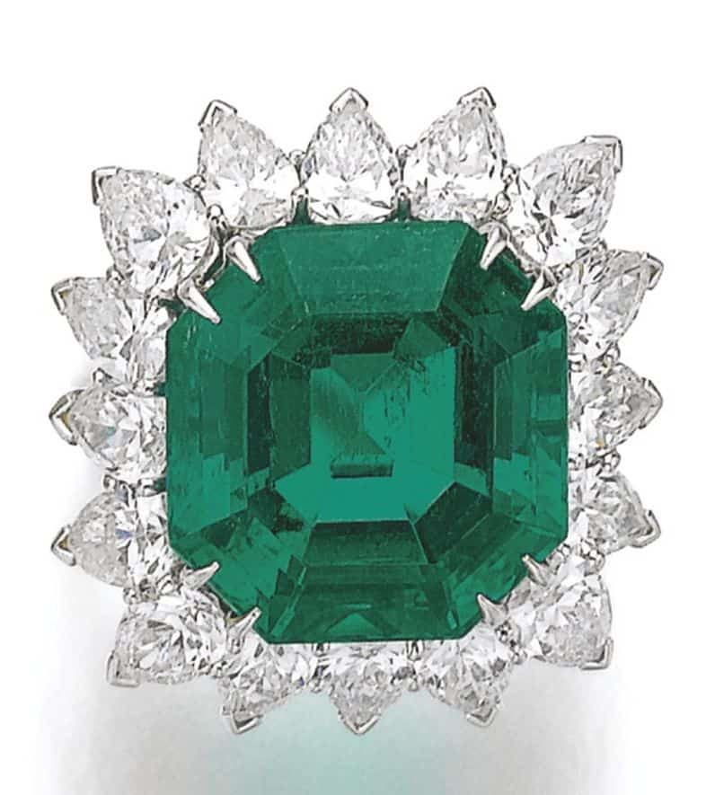 Lot 173 - Emerald and Diamond Ring, Harry Winston