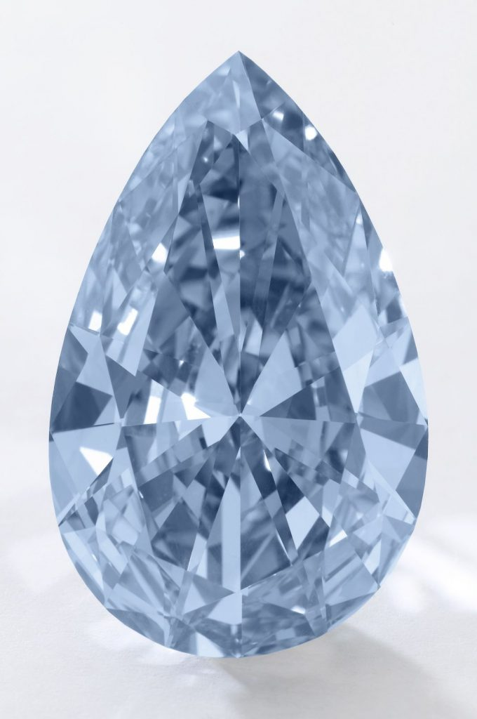 Lot 377 - 14.54-carat, pear-shaped, fancy vivid blue, internally flawless Apollo Diamond unmounted