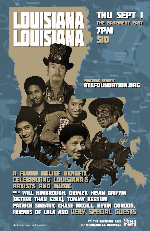 Louisiana Benefit Poster