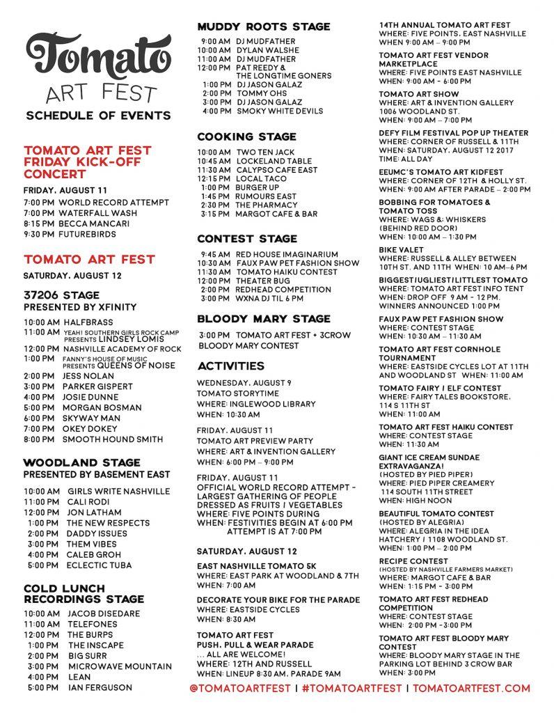 TAF-2017-Schedule