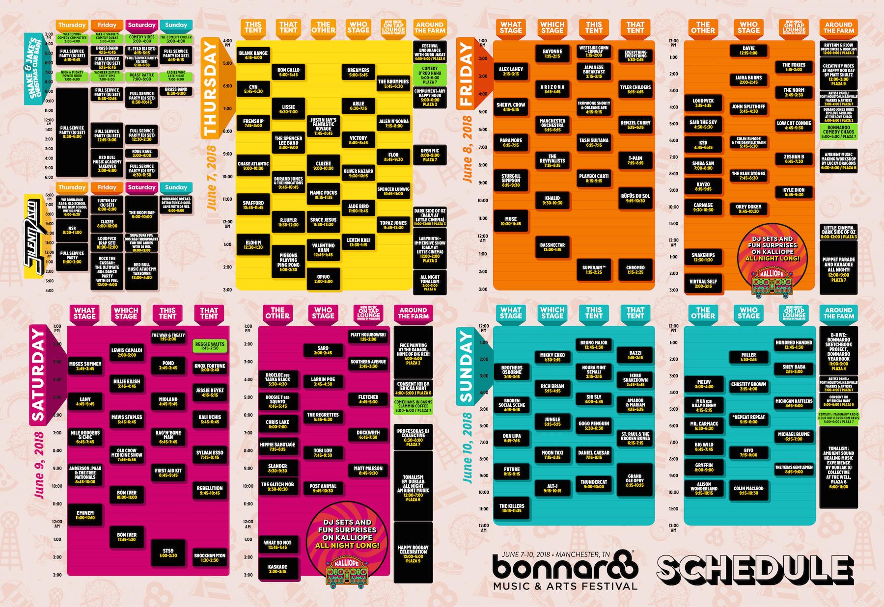 Bonnaroo2018Schedule