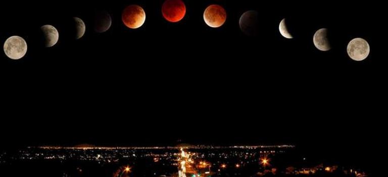 中秋+月食+超級血月:北美高清組圖