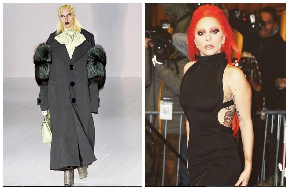 Lady Gaga現身紐約時裝週走秀,添新紋身氣場超強!