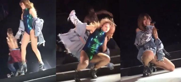 慘慘慘!Selena和小賈各自演唱會雙雙掉下台:說好的嗎?