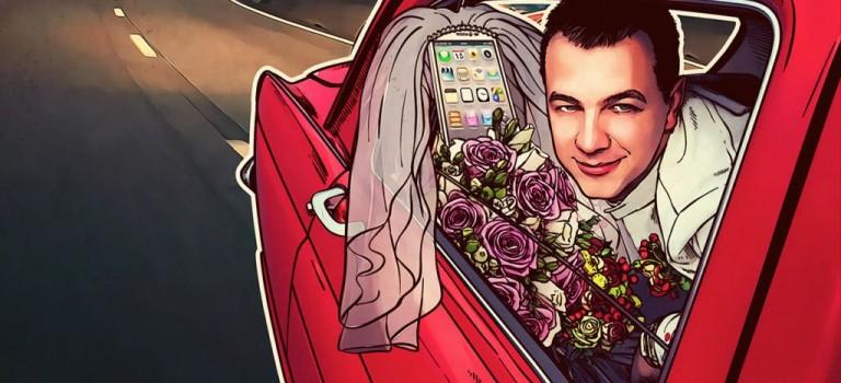 愛它就和它結婚!美男子在拉斯維加斯迎娶手機!