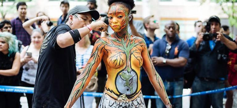 週末活動預告:紐約年度人體彩繪節,創作全過程不能錯過