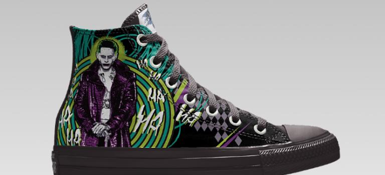 Converse搶攻電影市場,推出客製化Suicide Squad高筒鞋