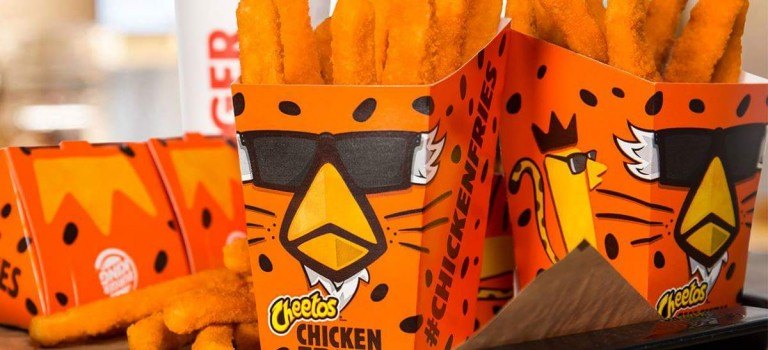 "Burger King聯手奇多推出""最強雞肉薯條"",超想吃!"