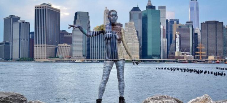 """將人體融入紐約:讓人歎為觀止的""""透明""""人體彩繪"""