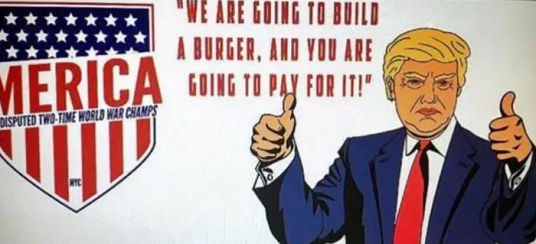 紐約美國大選主題餐廳爆笑登場,總統候選人變漢堡吃下肚
