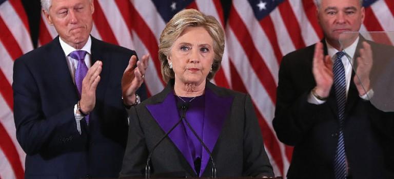 苦稱幾小時,希拉里發表敗選感言!奧巴馬致電恭喜川普