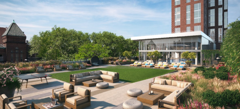 布魯克林最高層公寓一室一廳$895起租:自帶泳池健身房!
