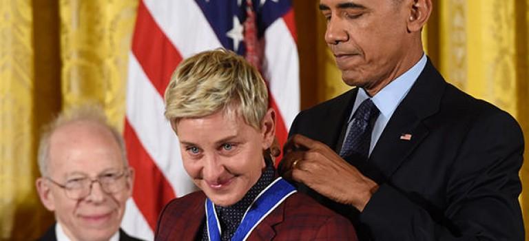 出道30年終獲總統勛章!愛笑的Ellen這次也哭了….