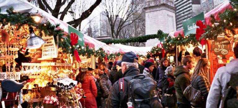 紐約正式進入耶誕世界,哥倫布廣場市集噹噹噹開幕囉!
