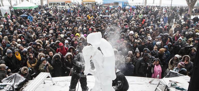 一年一度的中央公園冰雕節又回來咯!你還可以自己動手哦~