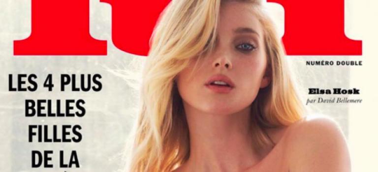 維秘當家天使之一Elsa Hosk裸身拍雜誌封面,真的一絲不掛喔!