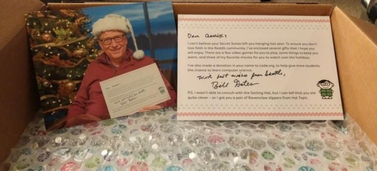 聖誕交換禮物收到比爾蓋茨和Snoop Dogg的大禮包:幸運網友開心到尖叫!
