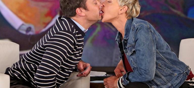什麼情況?!Jimmy Fallon和Ellen當眾熱吻:好羞羞!
