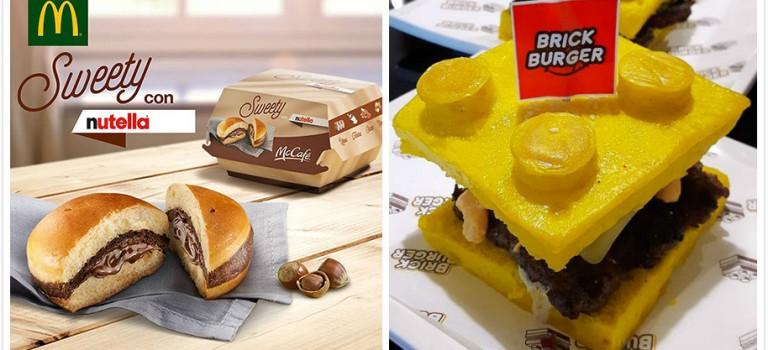 漢堡界頻出新招!樂高漢堡+nutella漢堡問你受不受得了?