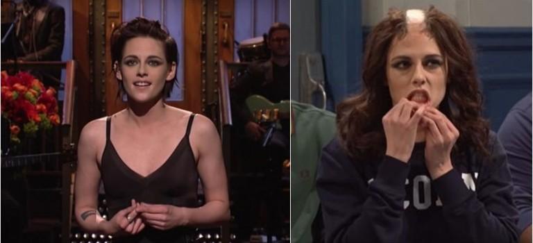 Kristen Stewart登脫口秀超精彩!扮醜、自嘲偷吃,還向川普嗆聲「sorry我超 gay」!