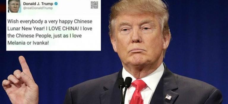 等了十三天,川普總統終於給我們拜年了!網友這樣調侃川普,笑死啦~~😂