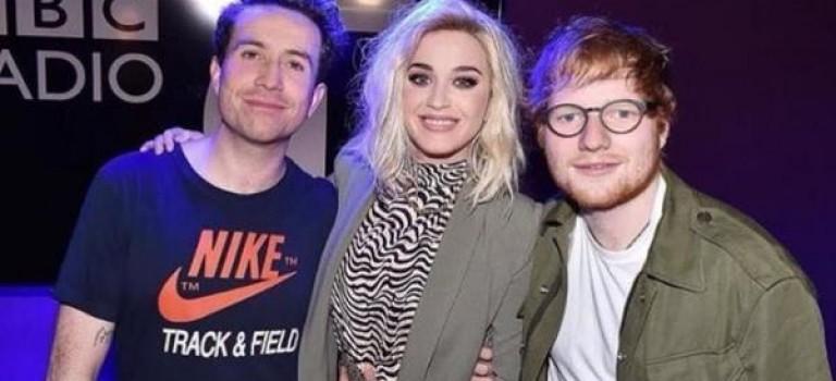 紅髮艾德和Katy Perry交好,一張親密照又引發三方粉絲交戰