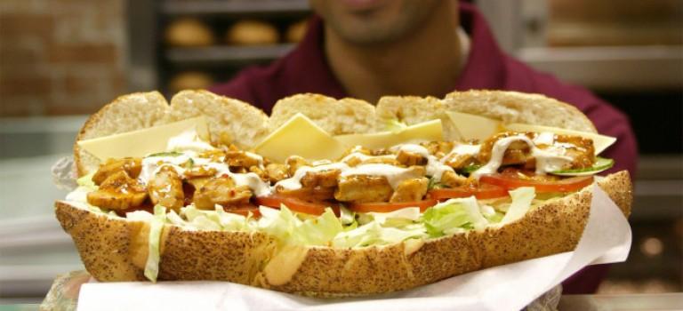 注意了!Subway爆食品安全問題:三明治雞肉含量僅有50%!