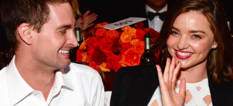 Snapchat 正式掛牌上市!米蘭達率先恭喜未婚夫!