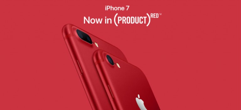 突襲!蘋果推出充滿話題的大紅色 iPhone 7 & 7 Plus