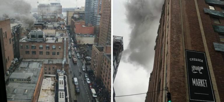 【視頻】紐約地標Chelsea Market著火!滾滾濃煙瀰漫街區