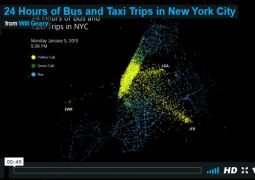 This Visualization Of All NYC Cab Bus Rides In One Day Is Surprisingly Soothing Gothamist