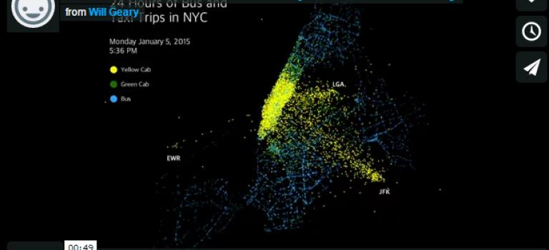 【超酷視頻】50秒看遍紐約一天交通!