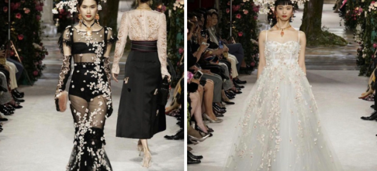 Dolce & Gabbana的這場時裝秀,真的美到哭!花仙子也不過如此~