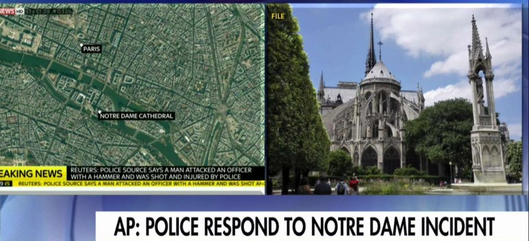 巴黎聖母院突發槍擊事件,警方要求民眾遠離該區域