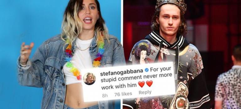好萊塢和時尚界撕逼了!Miley Cyrus 槓上 D&G!到底誰錯了?