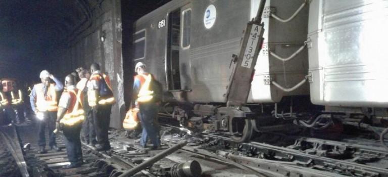 MTA公佈調查結果:紐約地鐵嚴重脫軌事件系人為原因!