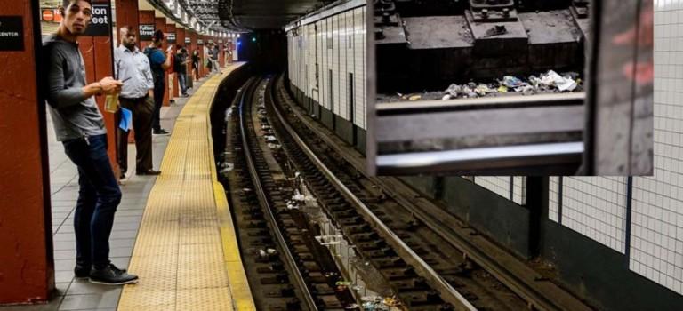 紐約地鐵垃圾引發火災,MTA或將禁止地鐵內進食!