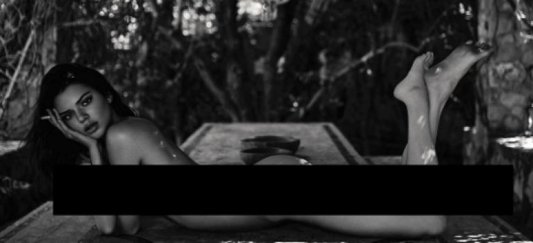 Kendall Jenner放裸照再惹爭議:全裸可以,這樣做就不行?!