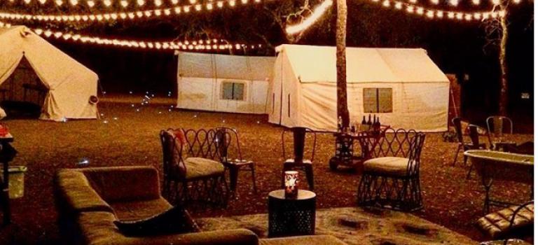 在紐約也可以住浪漫的海邊帳篷啦!還能在篝火上烤棉花糖哦~❤
