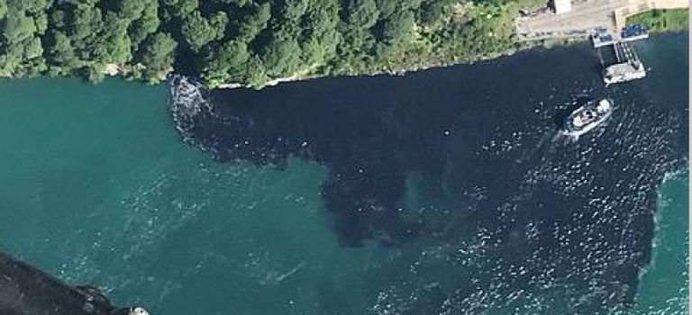 噢No!美加著名景點尼亞加拉大瀑布疑似被污染:黑色污水肉眼可見