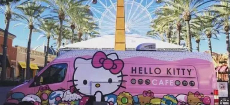 超萌的HelloKitty餐車,本週末要開到紐約啦! 一定要打卡