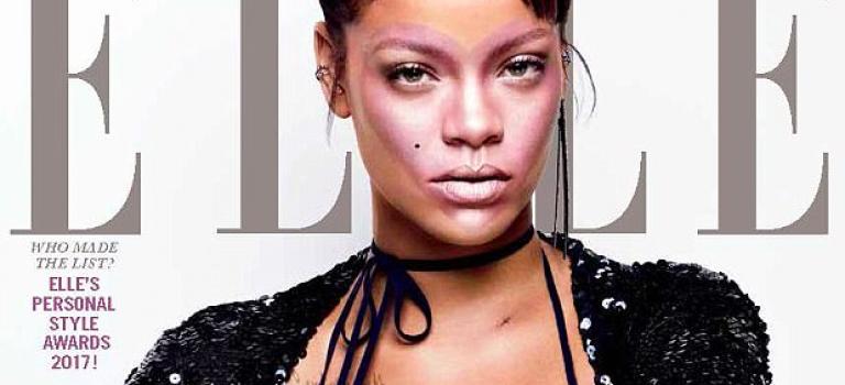 蕾哈娜拍攝雜誌封面!該露的都露了但是該遮的也都遮了~