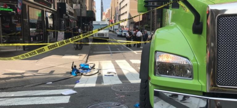 單車族不幸與大卡車相撞,被卡在車底險喪命!大卡車究竟有多少盲區?圖文解說,關鍵時刻救你命