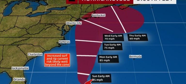 颶風荷西明日抵達,氣象局警告:紐約地區將有大風降雨,請提前做好準備!