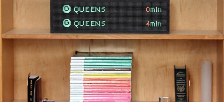 紐約客最想要的禮物出現了!!地鐵月台倒計時牌現在可以放家裡啦!