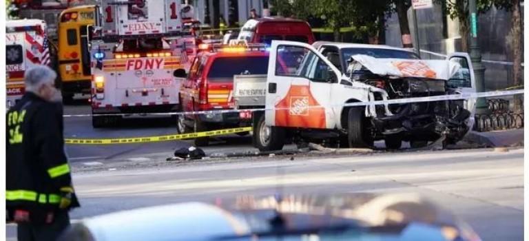 突發! 曼哈頓下城發生槍擊案,卡車司機向路人開槍! 目前疑2死多傷