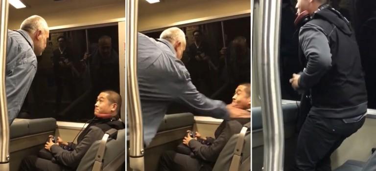 無辜青年因華裔身份在列車上被打被辱罵!影片網絡瘋傳,對種族歧視說NO!!